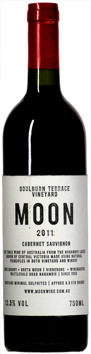 Bottle of MOON Cabernet Sauvignon